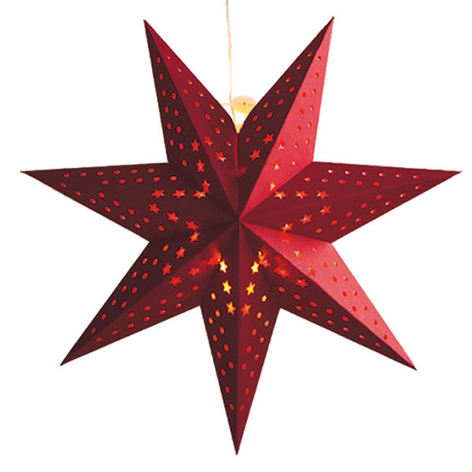Patrón copos - estrella LED Cellcandle roja