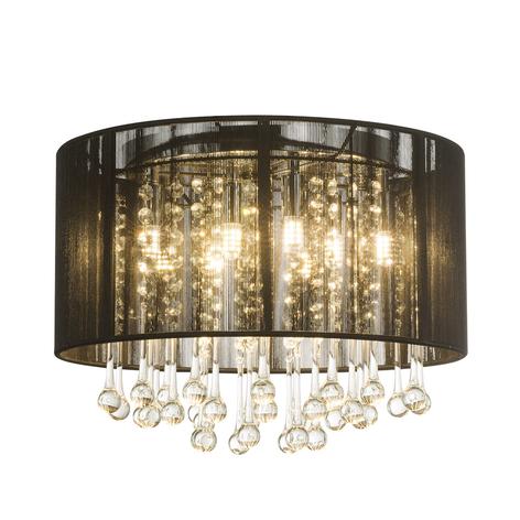 LED plafondlamp Sierra met zijdenkap en ornamenten
