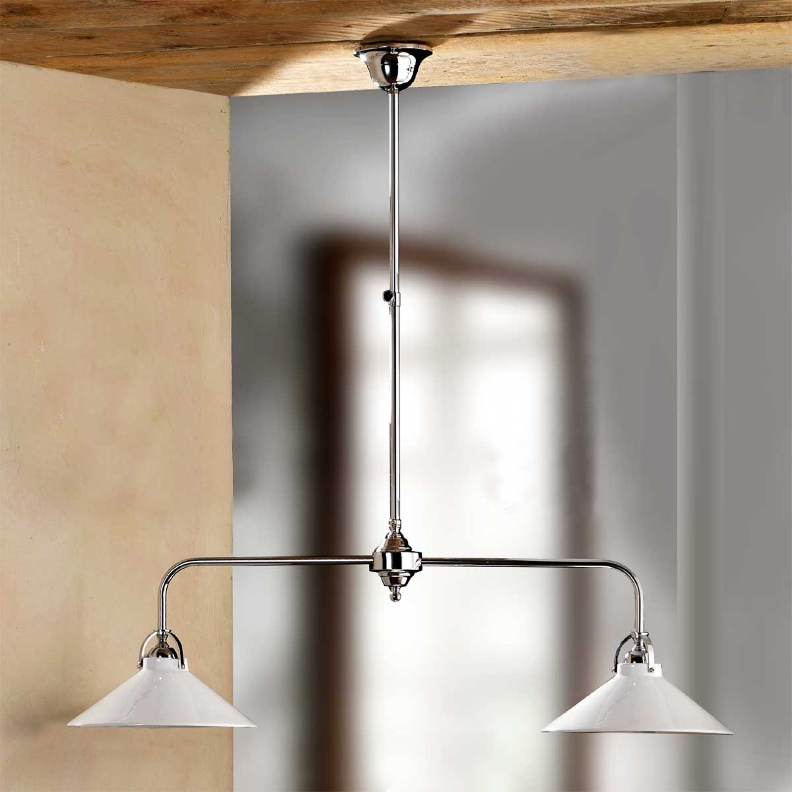 Hanglamp GIACOMO met keramieken kappen, 2-lichts