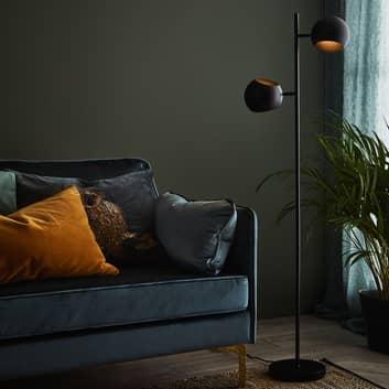 Golvlampa Edgar, 2 lampor, svart