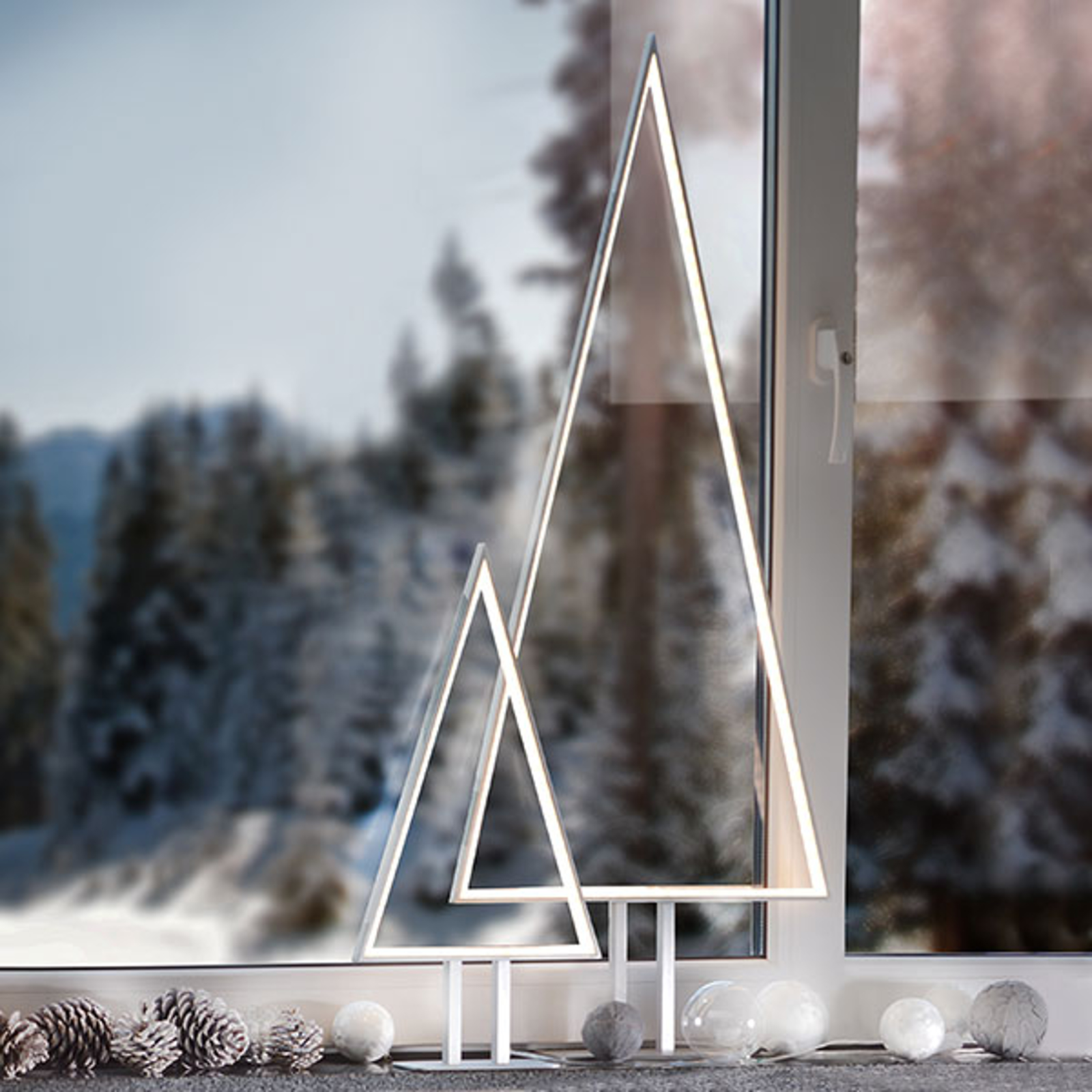 Aluminiowa lampa sufitowa LED Pine, 50 cm