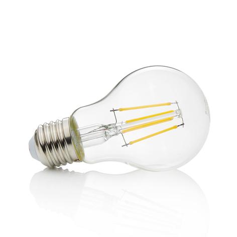 Philips LED pære filament E27 A60 4 W 2 500 K   Lampegiganten.no