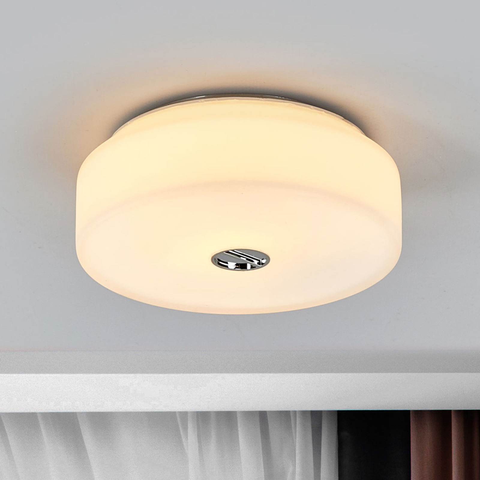 FLOS Mini Button stropné svietidlo zo skla_3510082_1