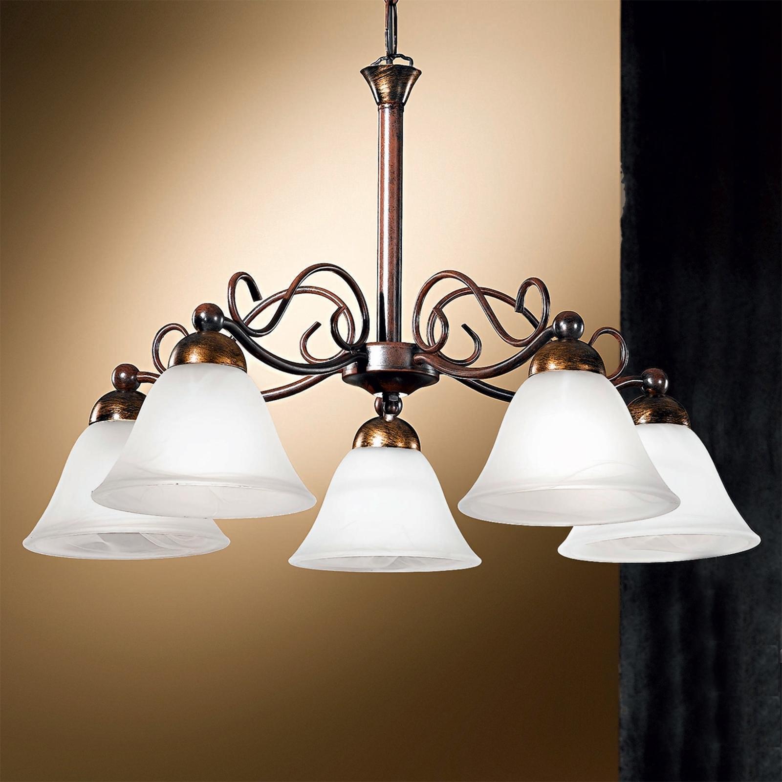5-punktowa ozdobna lampa wisząca JONTE