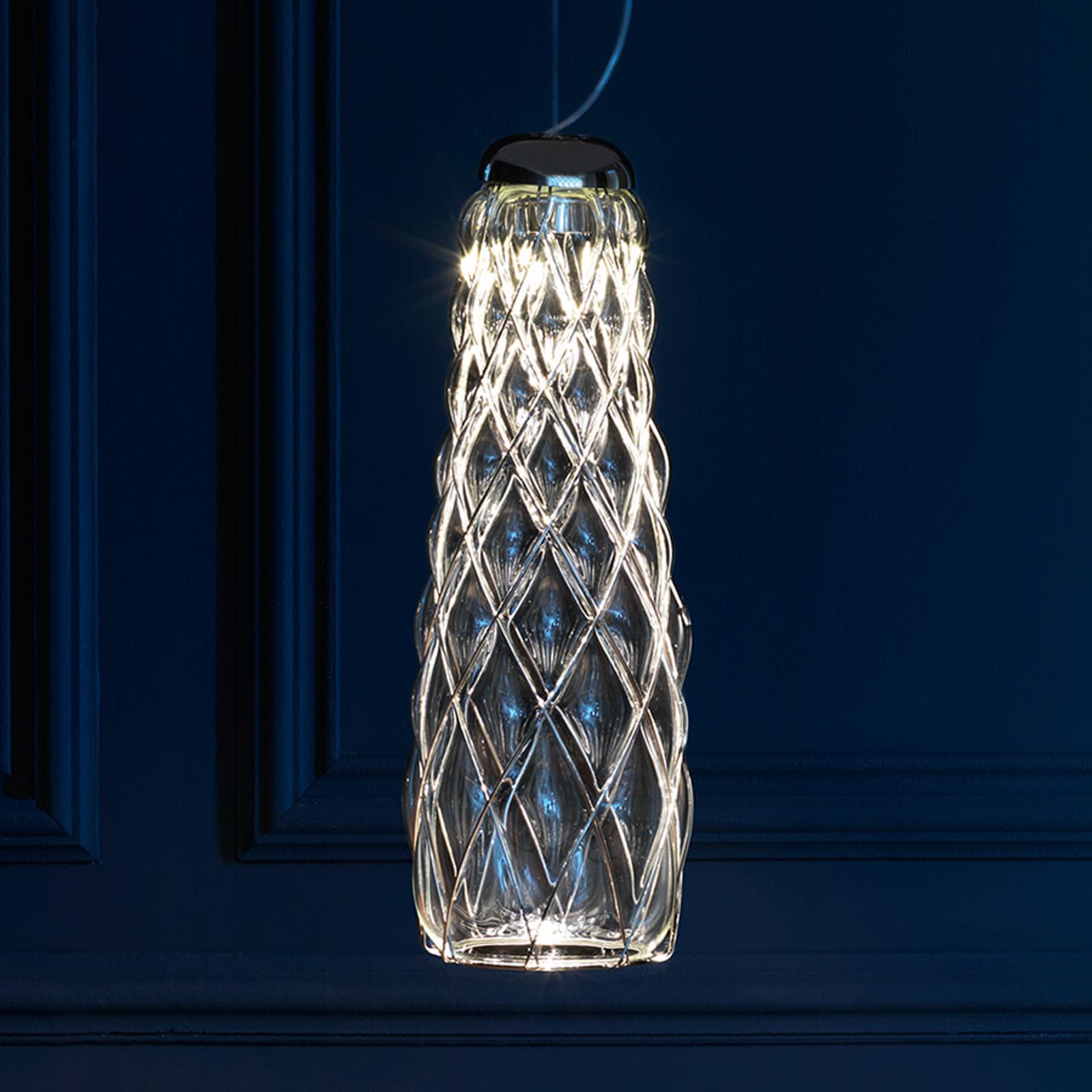 Lampa wisząca LED Pinecone, przezroczysta