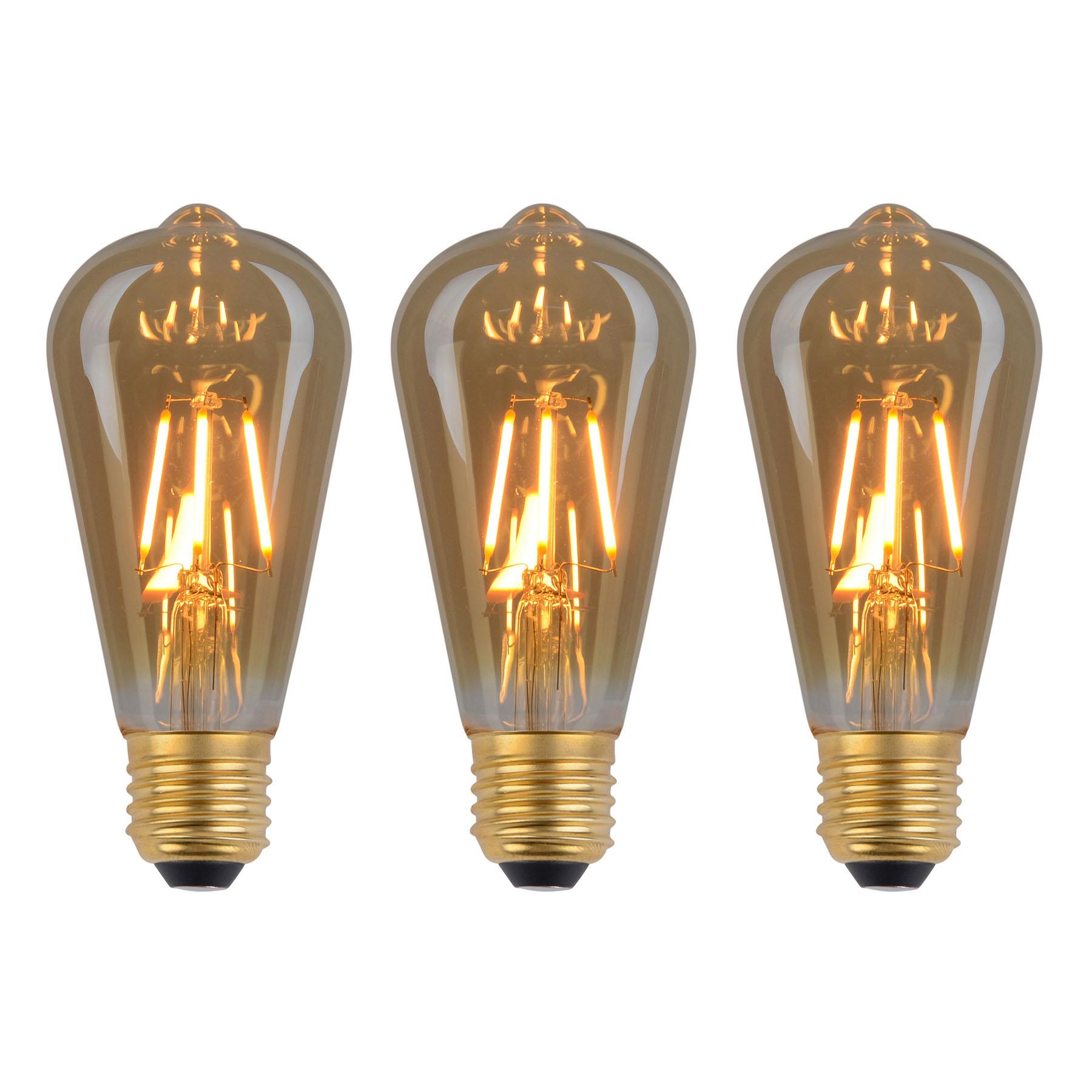 Lampadina LED rustica E27 4W dimming set 3x