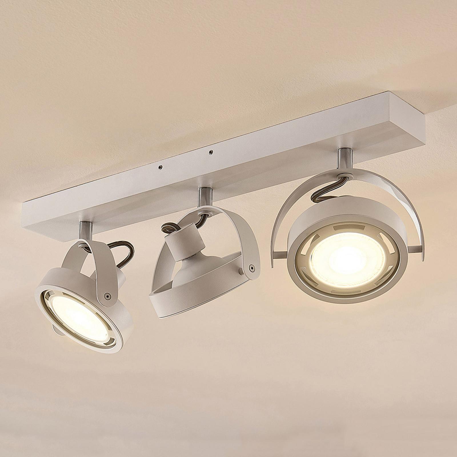 Reflektor LED Munin, ściemniany, biały, 3-pkt.