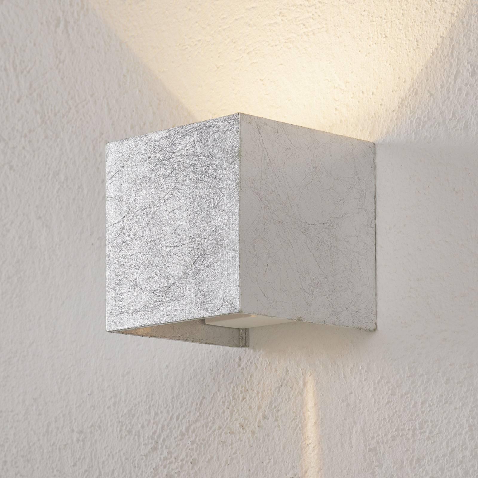 SIRI 44 LED - buitenwandlamp in bladzilver