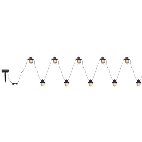 LED-Solar-Lichterkette 33059F mit 10 Laternen