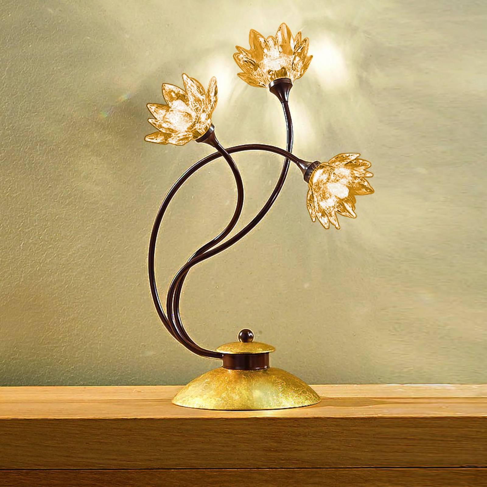 Tischleuchte Fiorella amber
