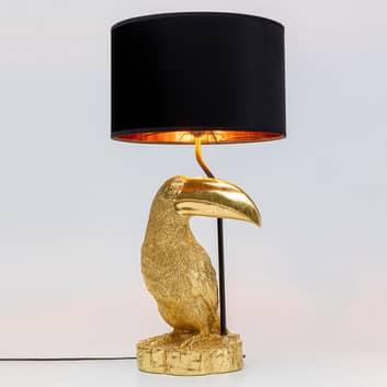 KARE Toucan bordlampe, gylden