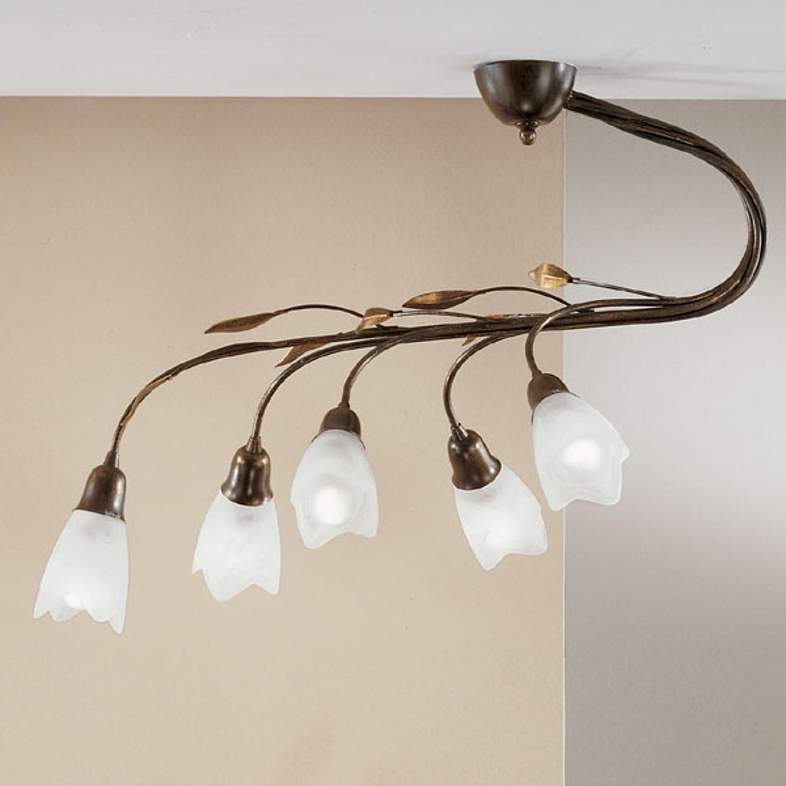 Lampa sufitowa Campana, 5-punktowa, prosta