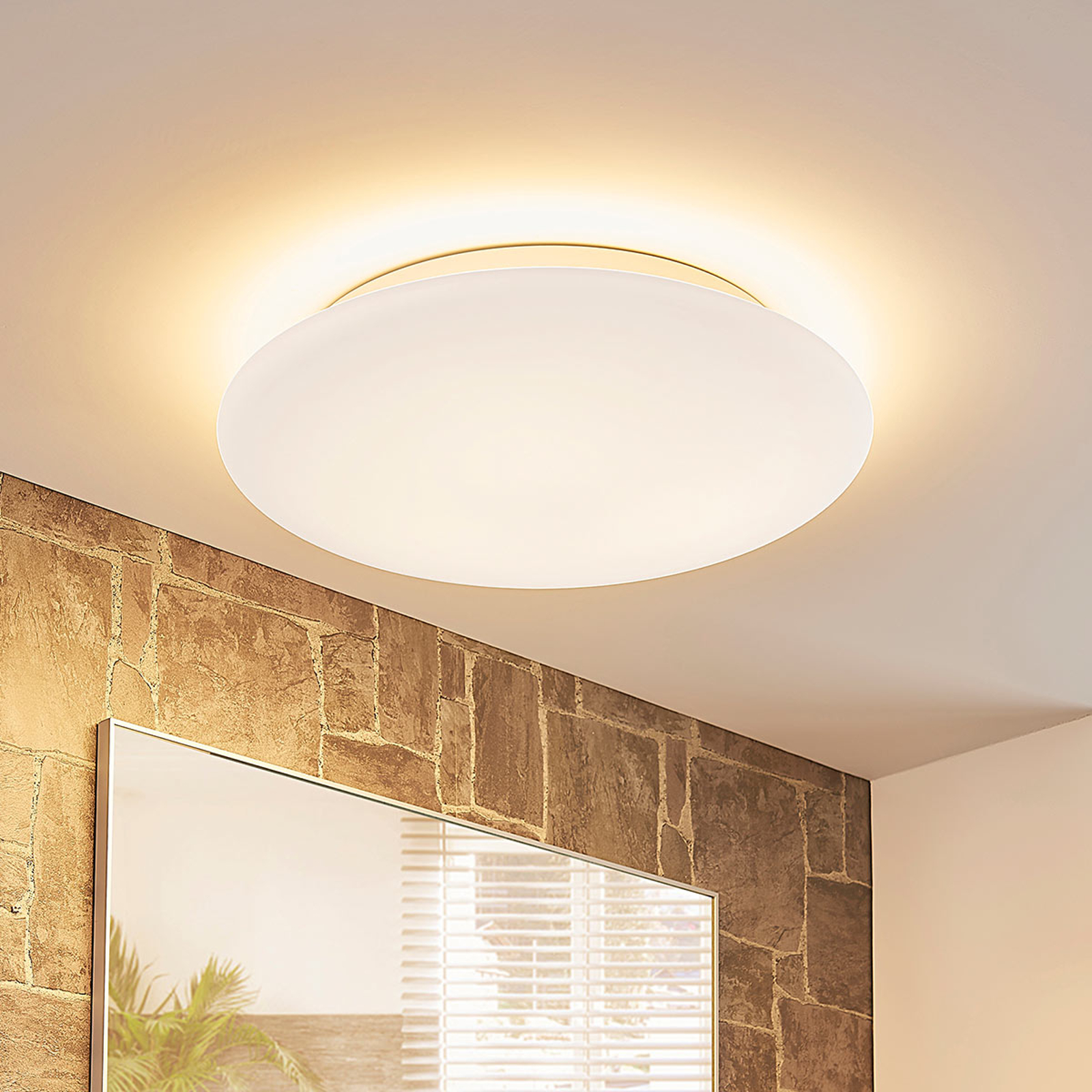 Dreistufig dimmbare LED-Deckenleuchte Toan, IP44