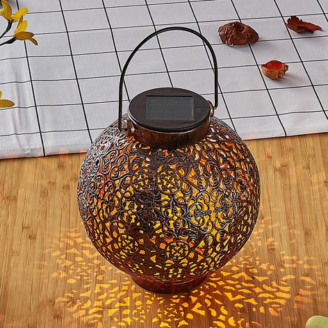 LED-solarlampa Dunjaris, ornament, koppar