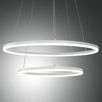 LED závěsné světlo Giotto, dva zdroje, bílá