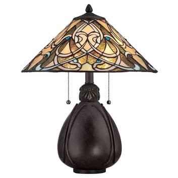 Bordslampa India i Tiffany-design