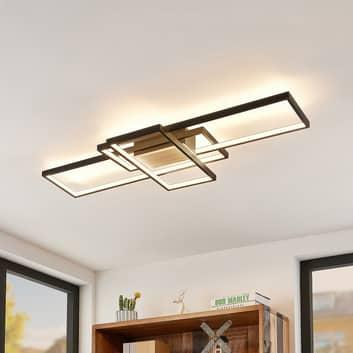Lindby Emiljan LED stropní světlo, černá matná