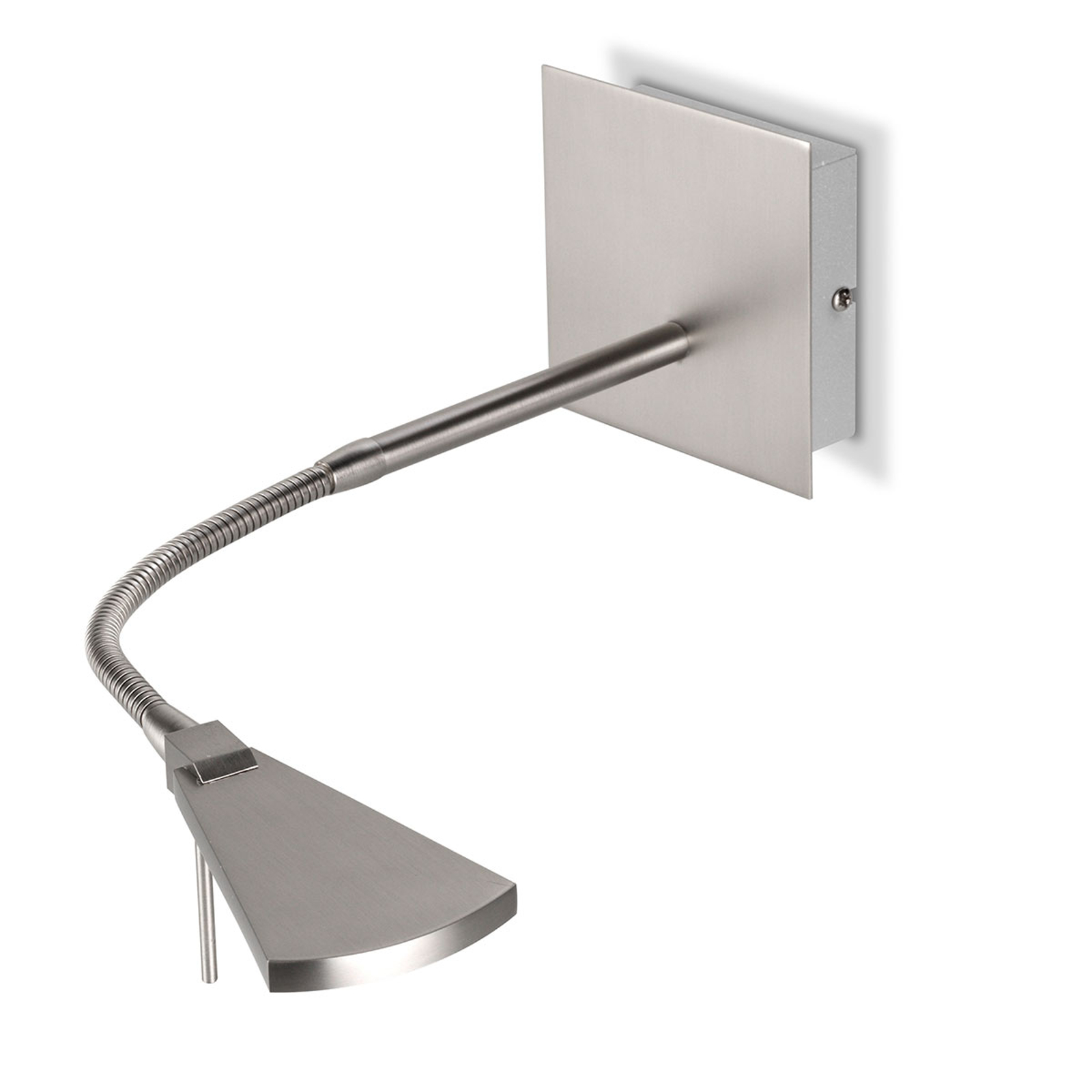 Flexible LED-Wandleuchte Nec, nickel matt