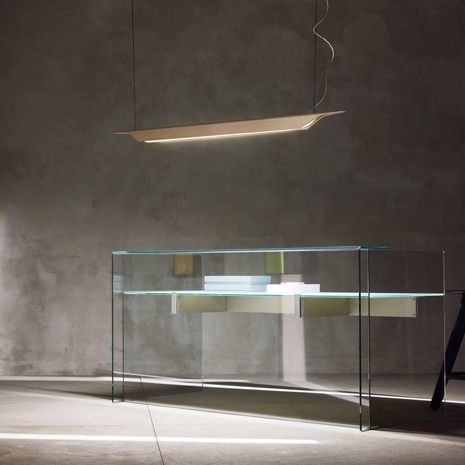 Foscarini Troag M LED-Hängeleuchte aus Holz, natur