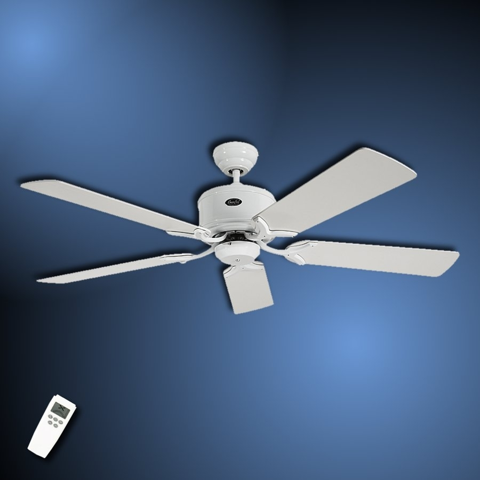 Enkel loftsventilator Eco Elements, hvid-grå