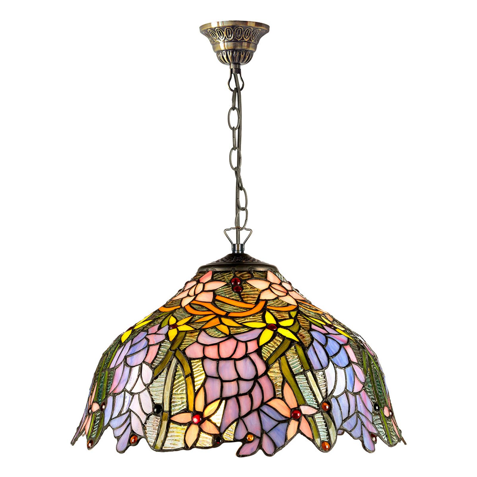 KT1082+C2 hængelampe i Tiffany-stil