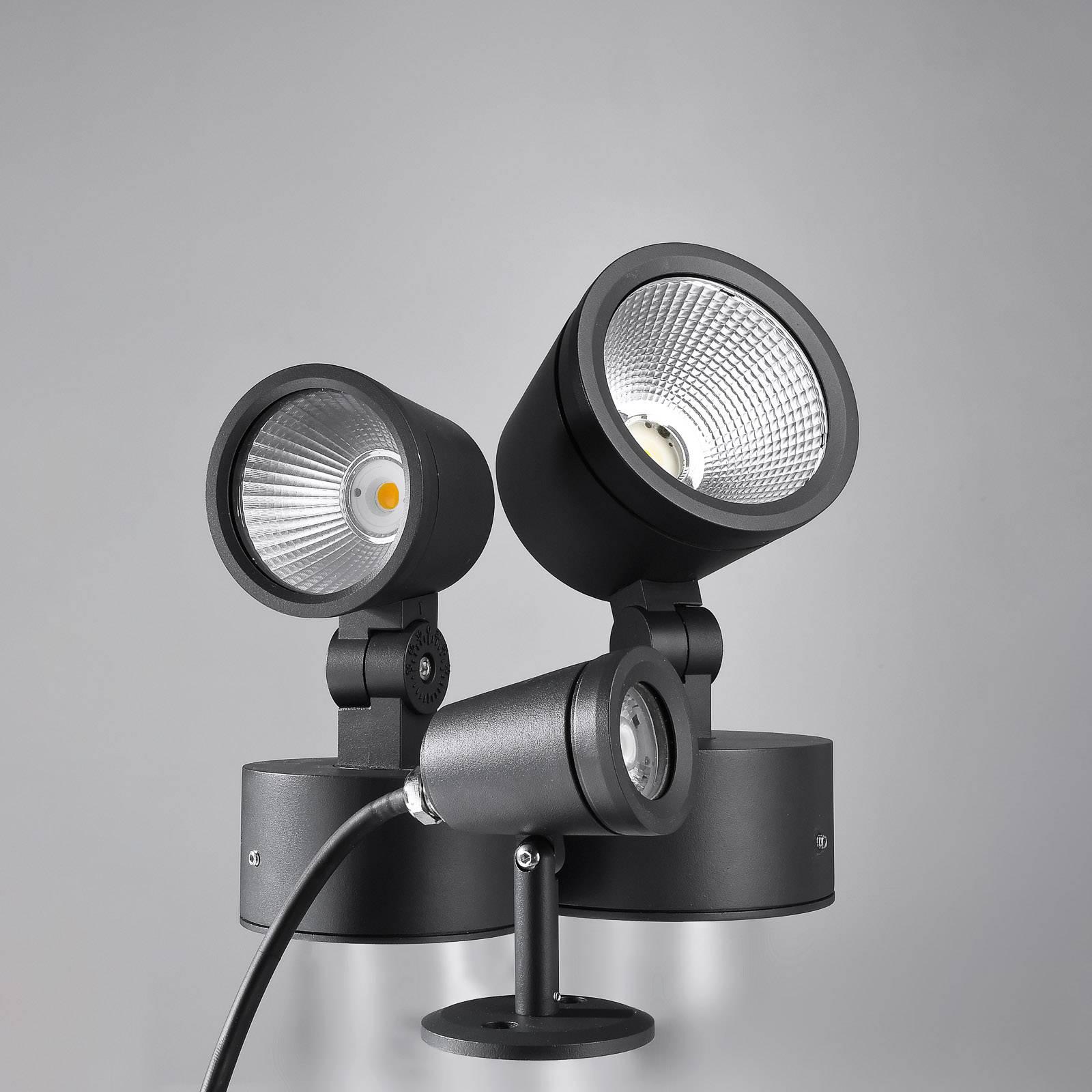 LED-buitenspot Colt, warmwit, 1.090 lumen