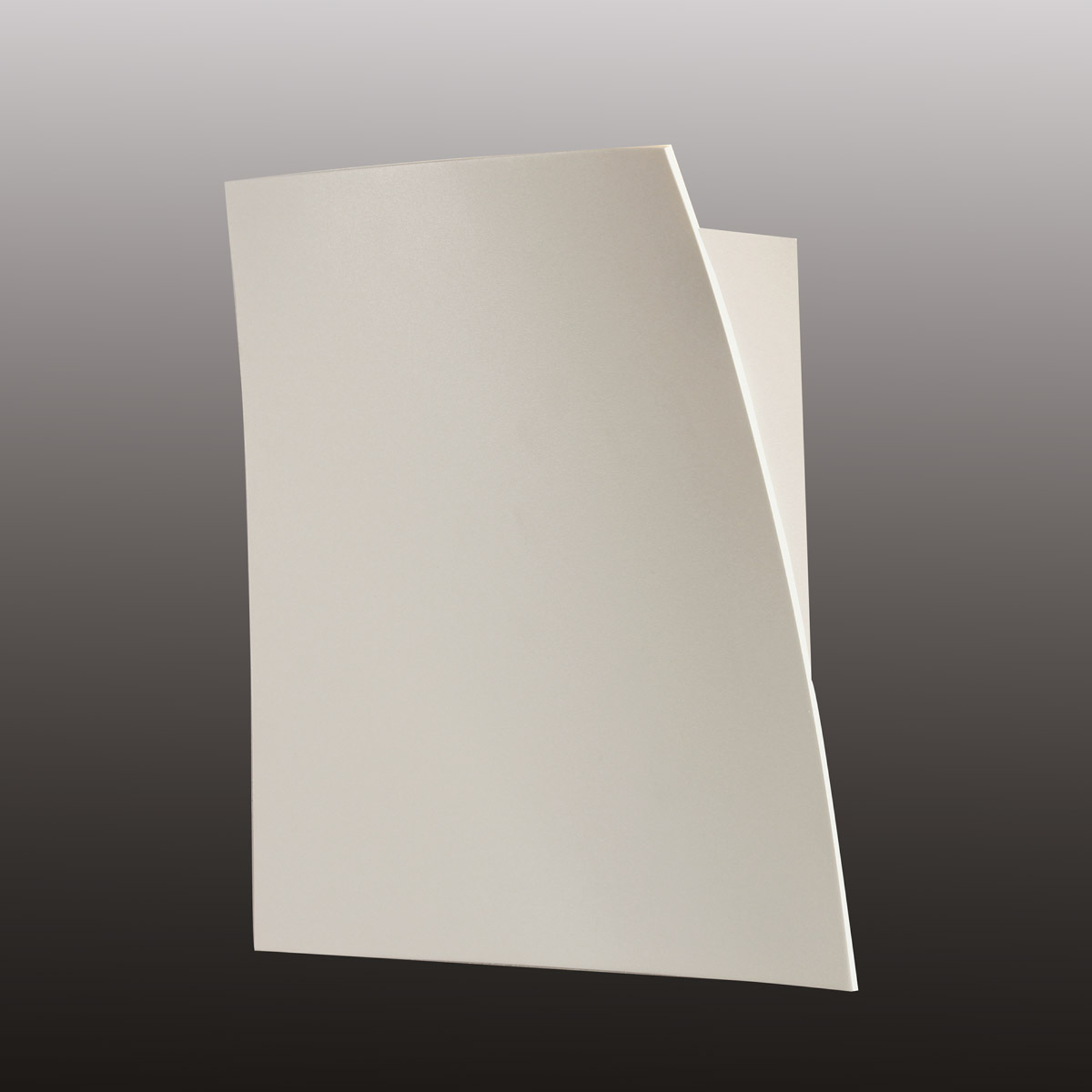 Escale Gap – matt hvit LED-vegglampe