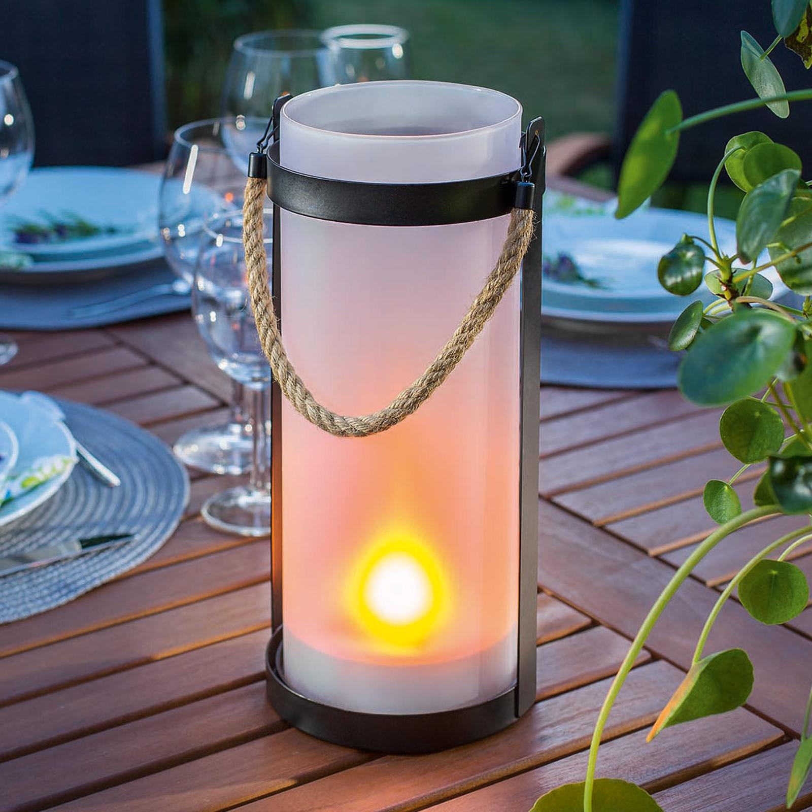 Aurinkokäyttöinen lamppu Jasmin, liekkiefekti