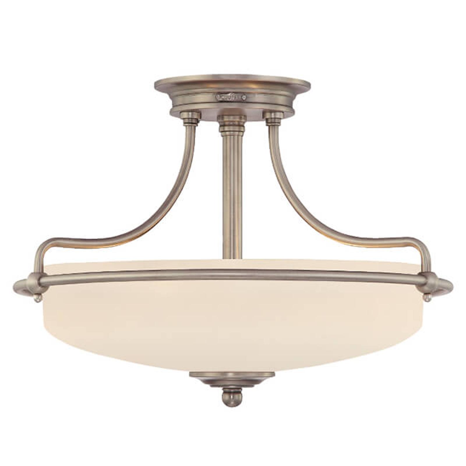 Plafondlamp Griffin, Ø 43 cm, nikkel antiek