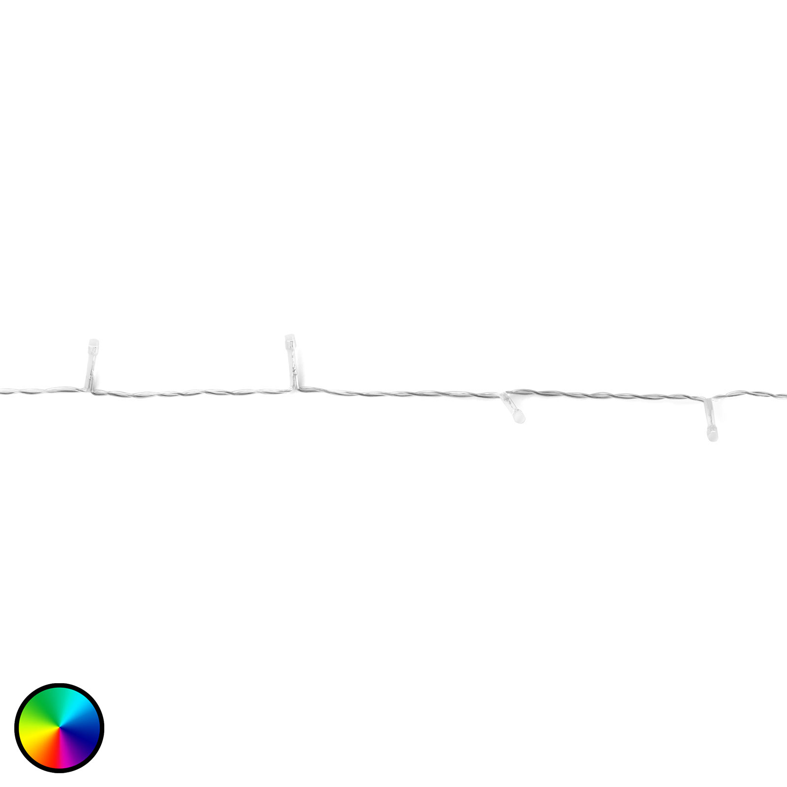 Lichterkette Twinkly RGBW, 250-fl. 20m transparent
