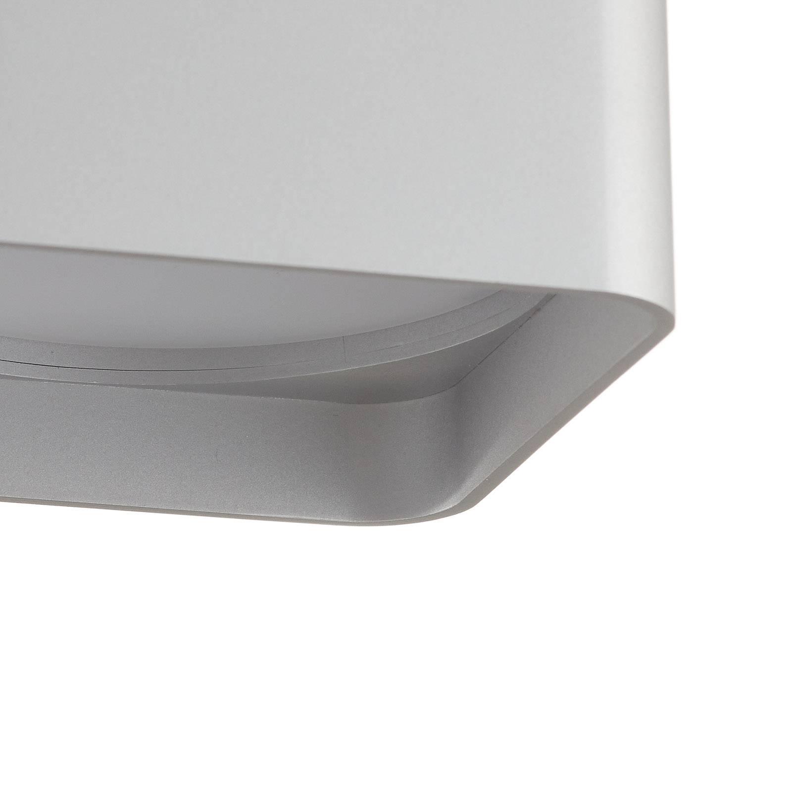 Helestra Dora lampa sufitowa LED kątowa, srebrna