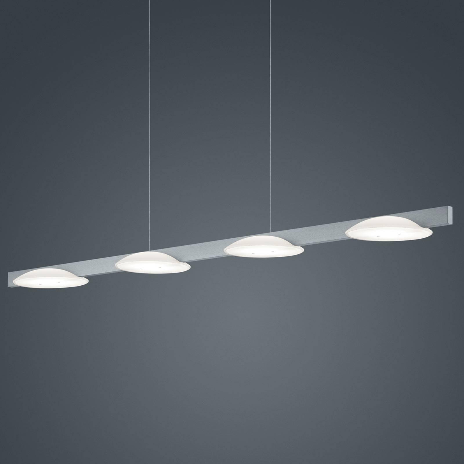 Helestra Pole lampa wisząca LED 4-punktowa nikiel