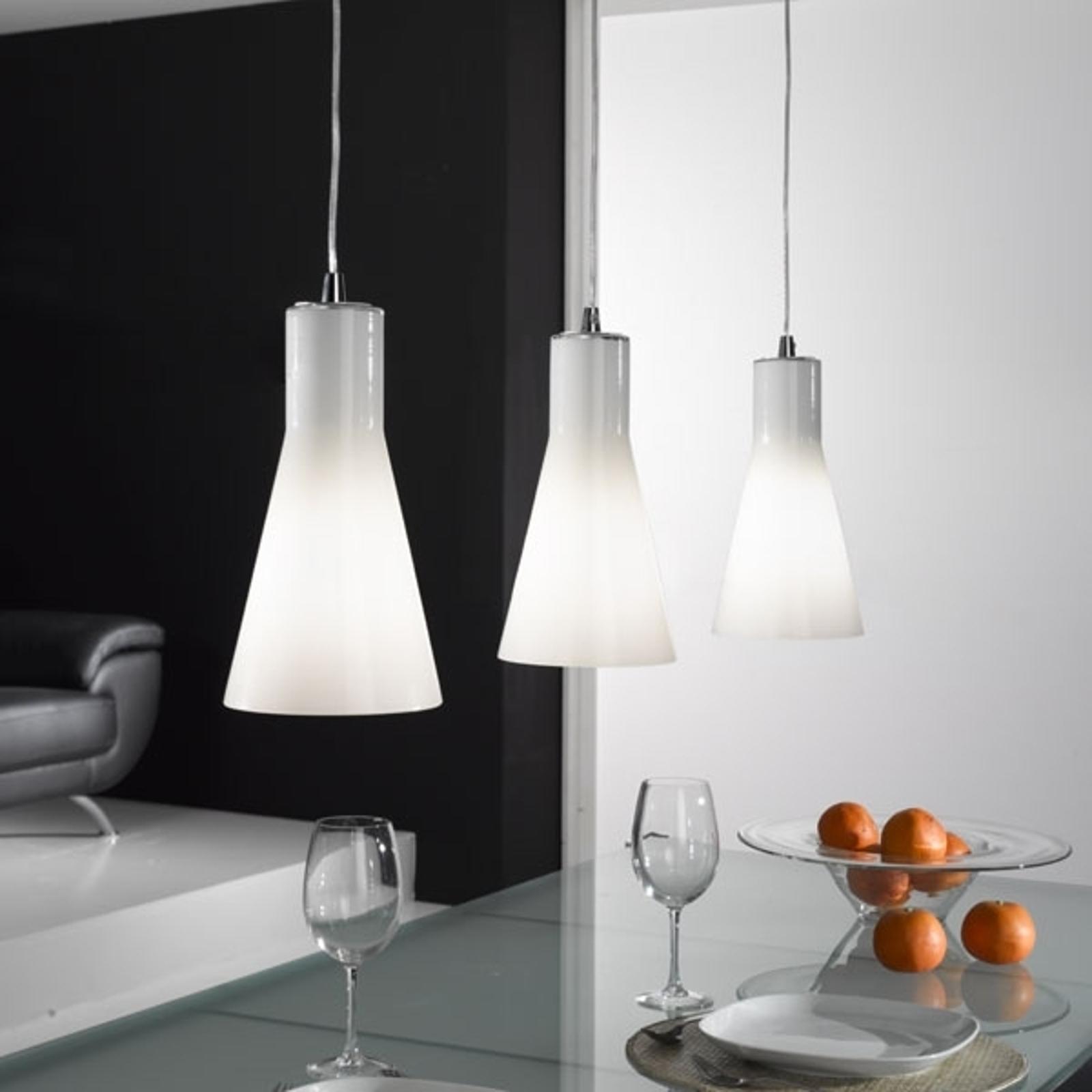 Lampa wisząca Dana ze szkła, 3-punktowa