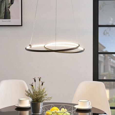 Lindby Lucy LED hanglamp, 45 cm, zwart mat