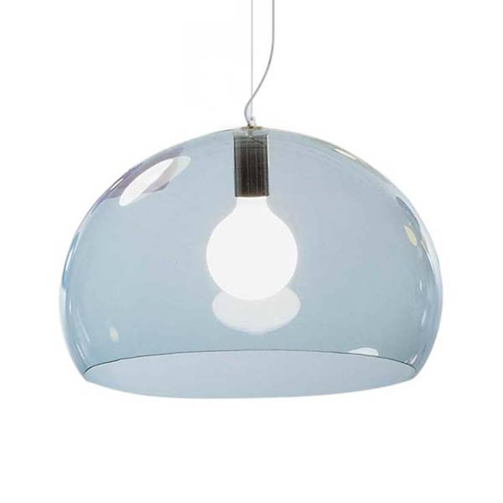 Kartell FL/Y – lampa wisząca LED, błękit nieba