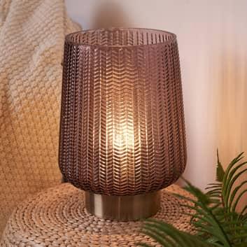Pauleen Glamour lámpara mesa LED, batería Ø 19 cm