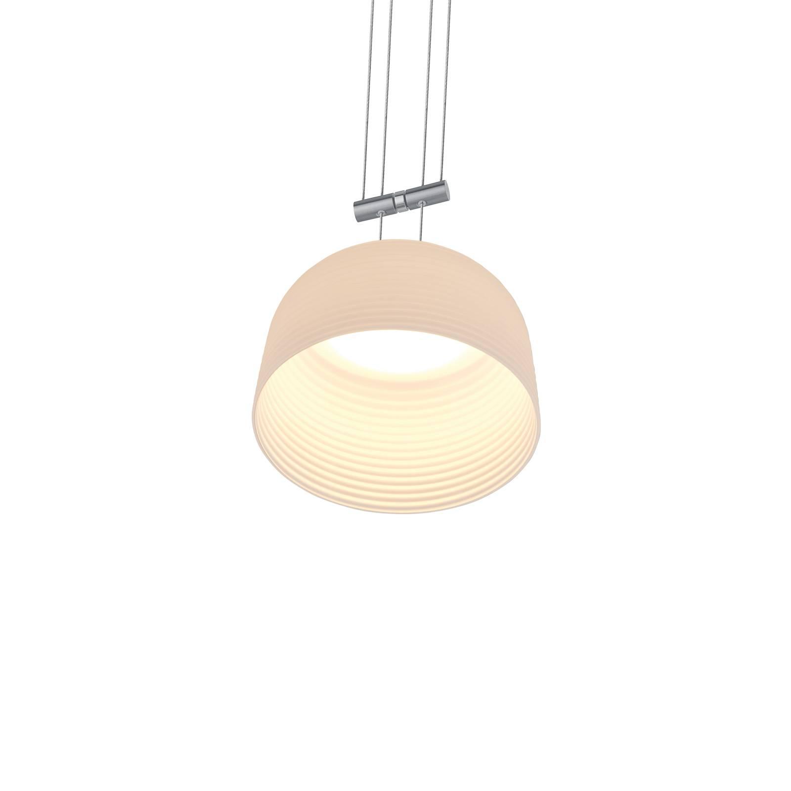 BANKAMP Nelia hanglamp ZigBee dimbaar 16cm nikkel