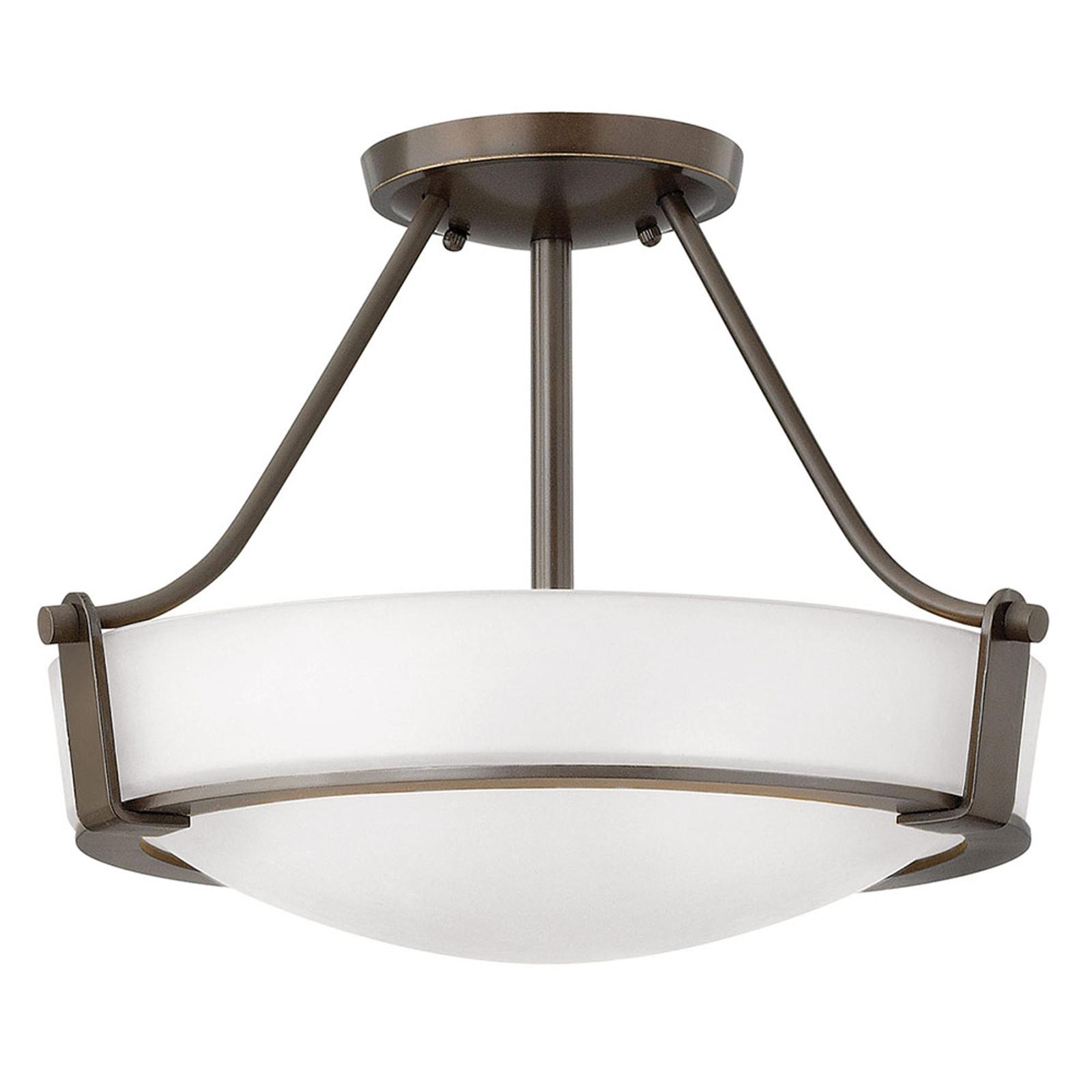 Plafondlamp Hathaway met afstand, brons Ø 41 cm