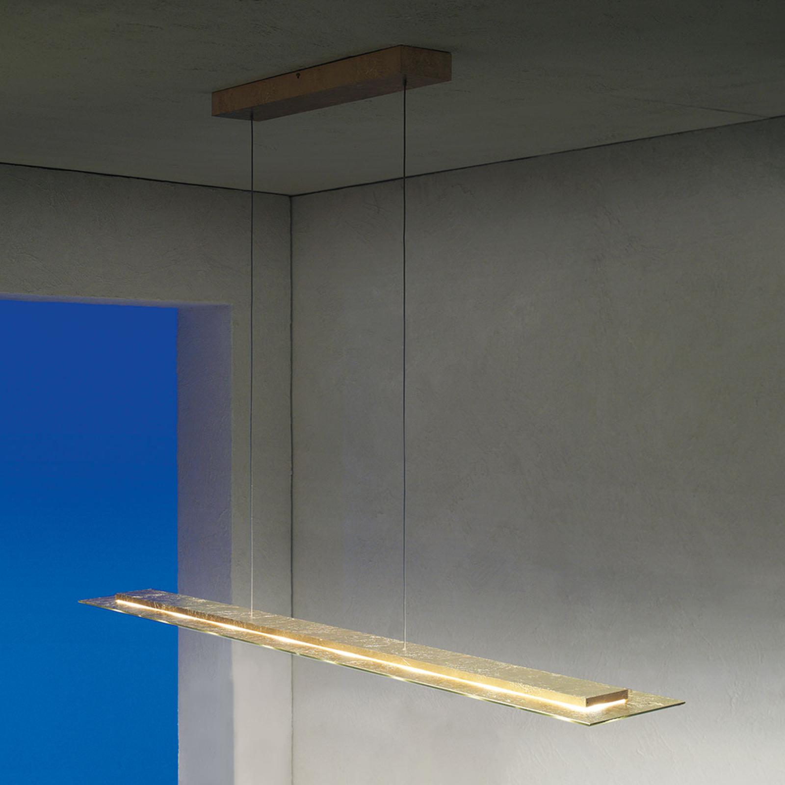 Suspension LED Skyline à int variable plaquée or