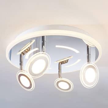 LED-loftlampe Enissa, rund, 4 lyskilder