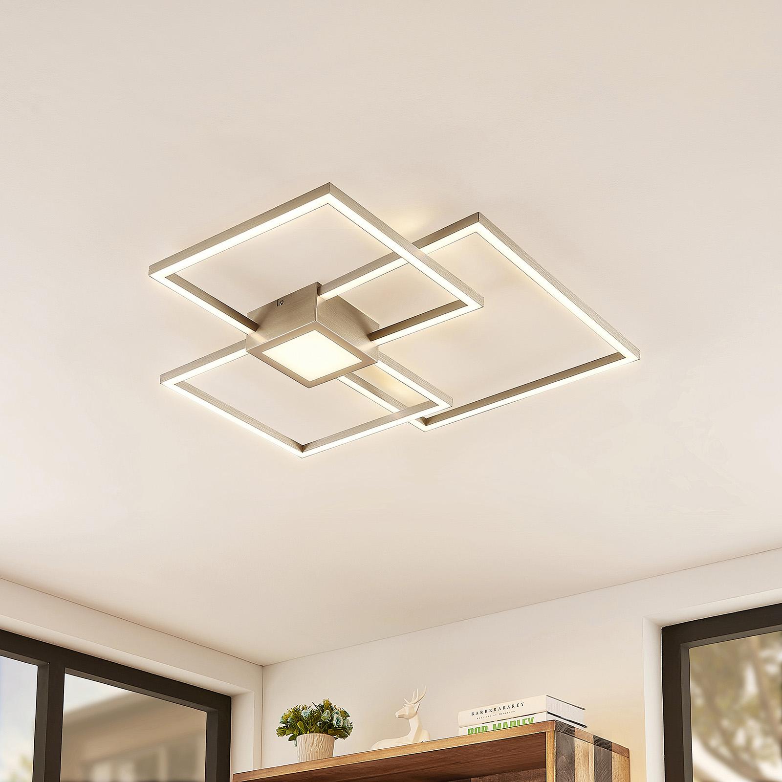 Lindby Duetto lampa sufitowa LED nikiel 38W