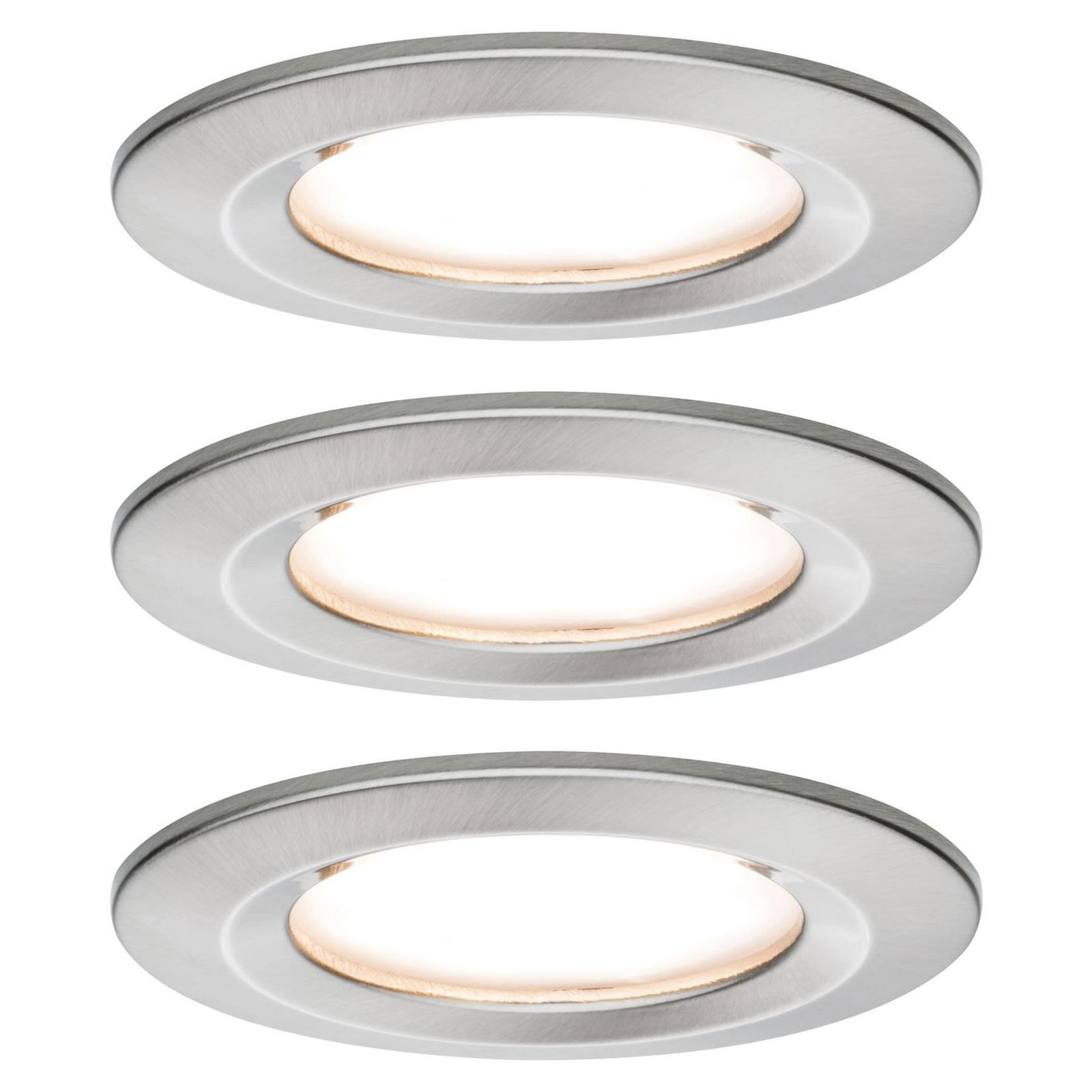 Paulmann Nova LED-inbyggnadsspot 3-pack stel, järn