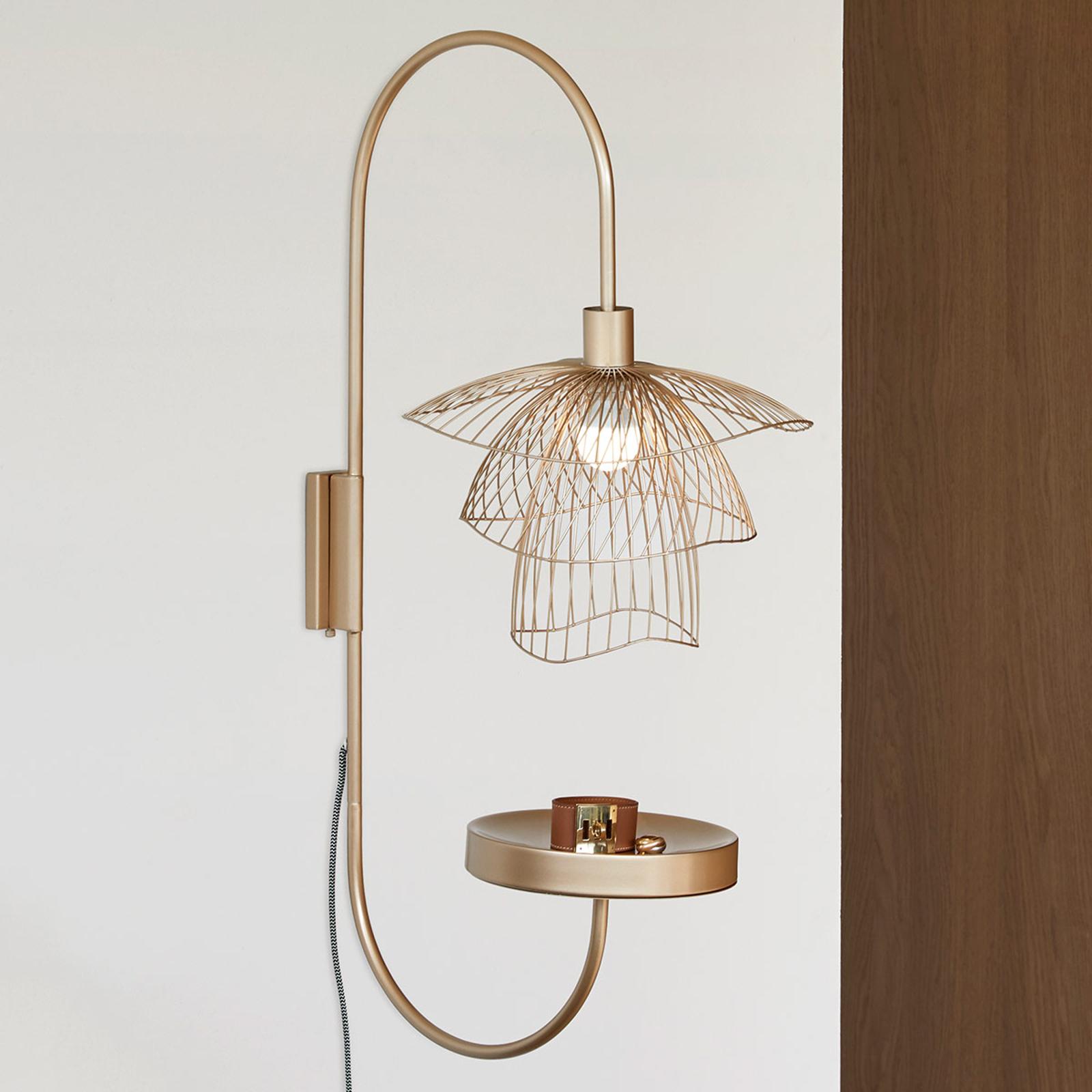 Forestier Papillon XS væglampe, champagne