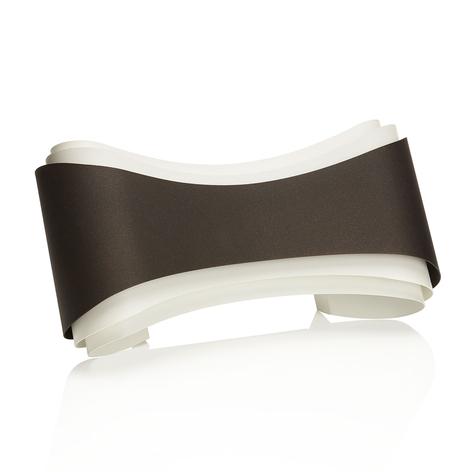 Bronskleurige design-wandlamp Ionica
