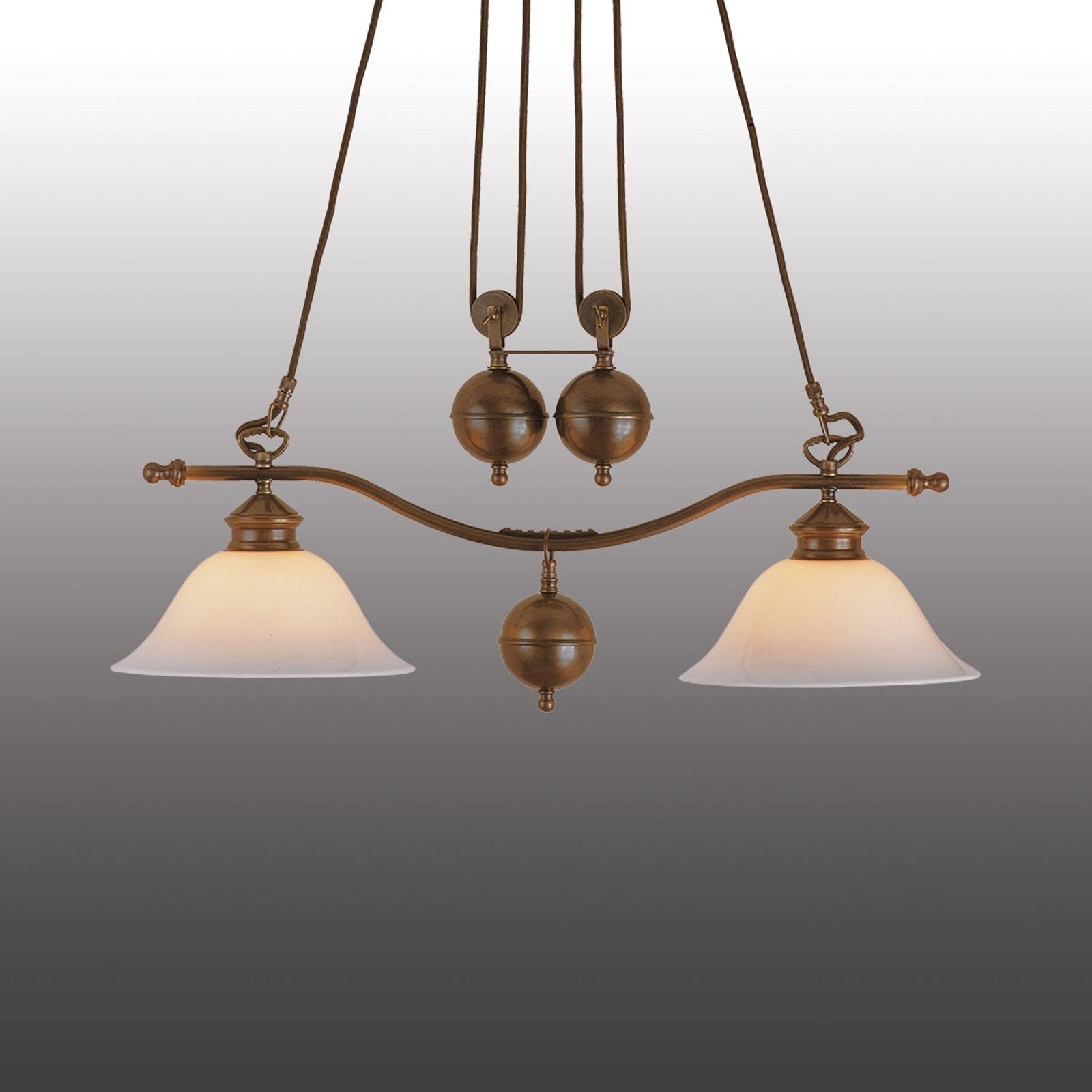 Anno 1900 hængelampe med to pærer