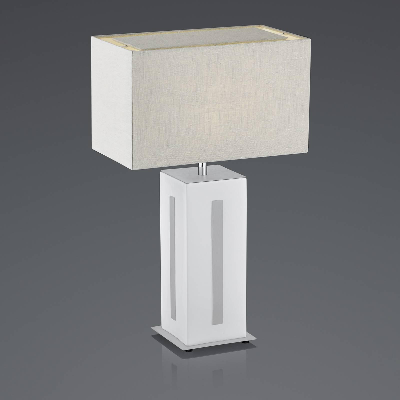 BANKAMP Karlo Tischleuchte weiß/grau, Höhe 56cm