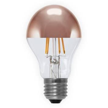 E27 4W 926 topforspejlet LED-pære, kobber
