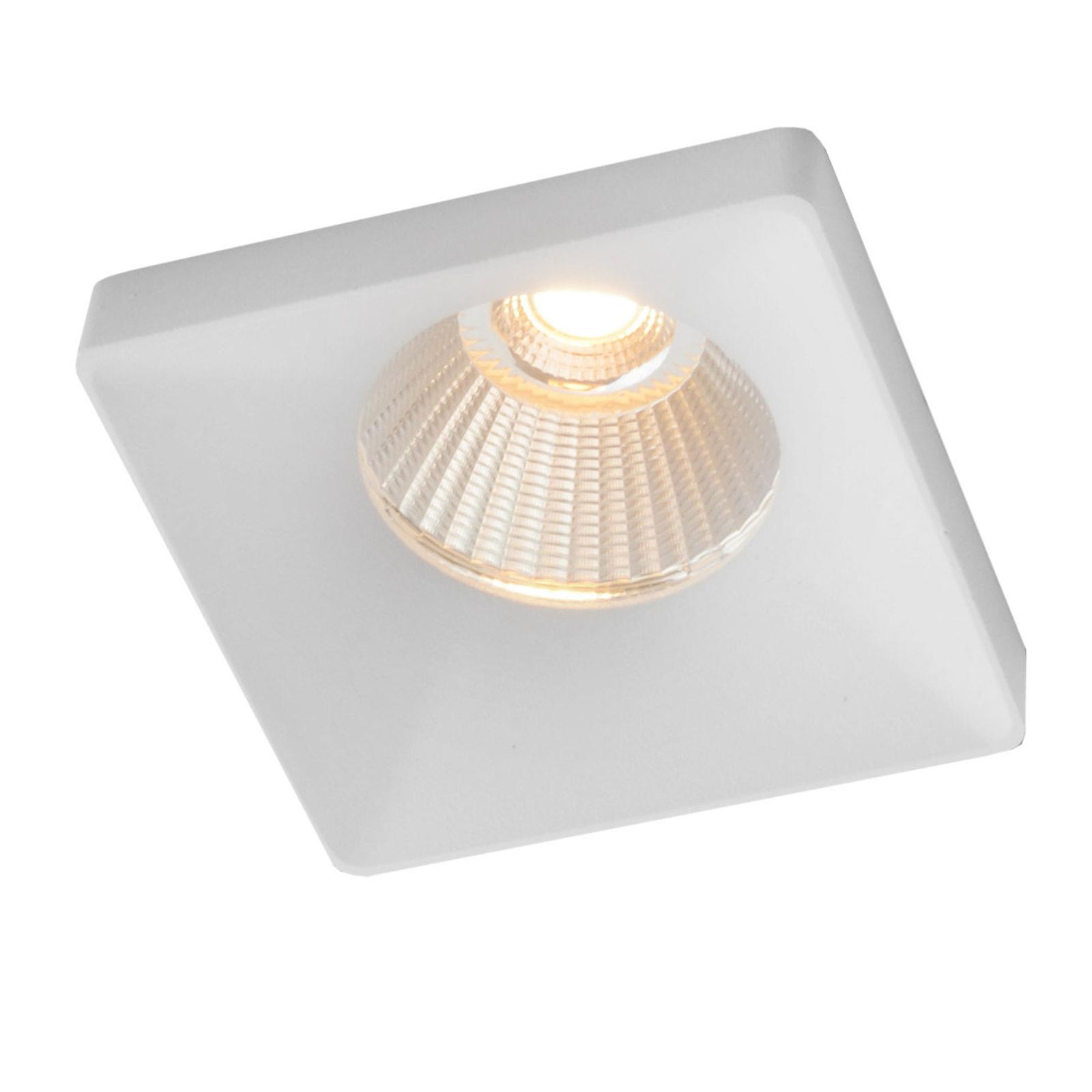GF design Squary Einbaulampe IP54 weiß 2.700 K
