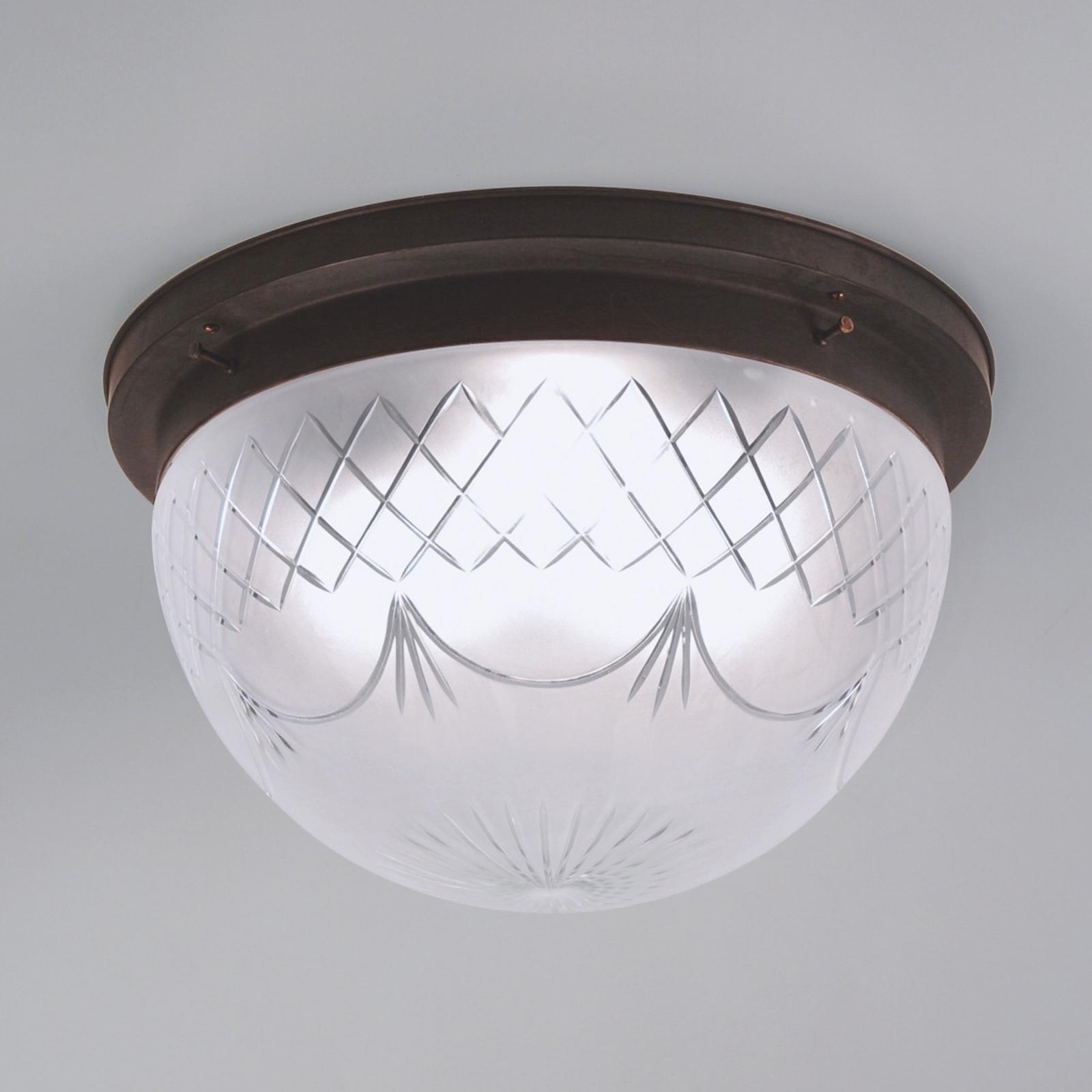 Lámpara de techo Karolin, pantalla de vidrio