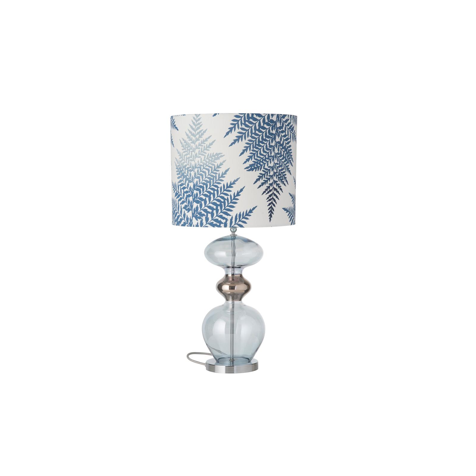 EBB & FLOW Futura lampa stołowa Fern Leaves indigo